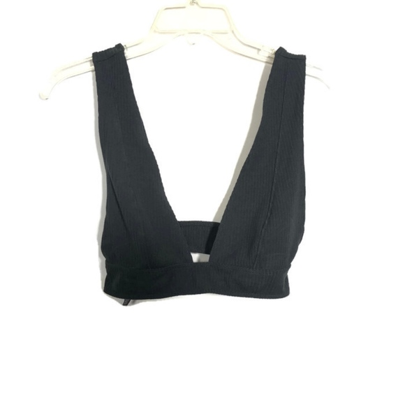 fab32e3fab UO Out From Under Ribbed Plunge Unpadded Bralette